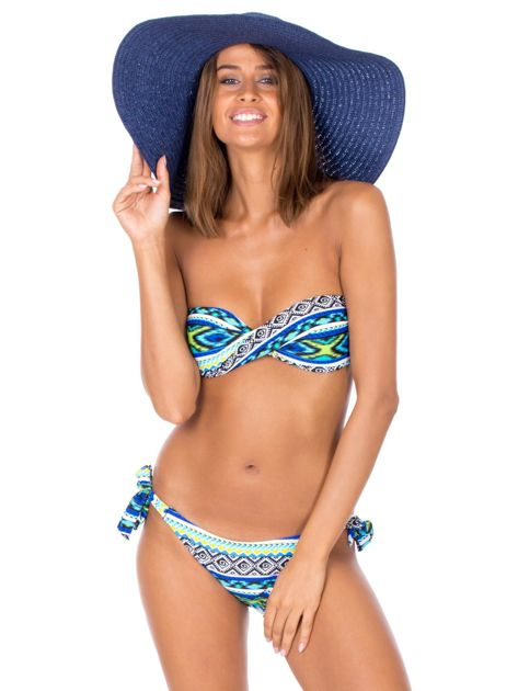 Wiązany strój kąpielowy bikini w kolorowe desenie                              zdj.                              6
