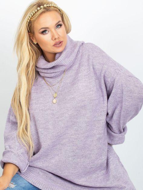 Wrzosowy sweter plus size Poline                              zdj.                              1