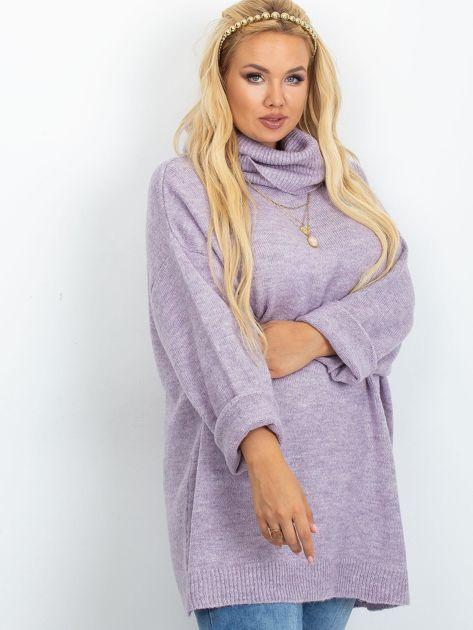 Wrzosowy sweter plus size Poline                              zdj.                              3