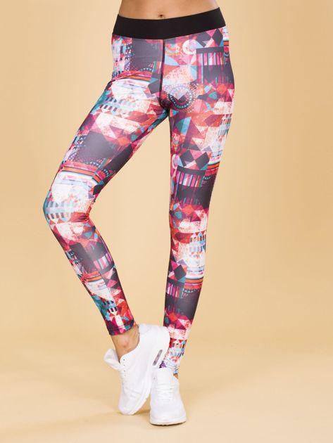 Wzorzyste legginsy damskie                              zdj.                              1