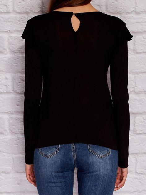 YUPS Czarna bluzka z falbanami                                  zdj.                                  2