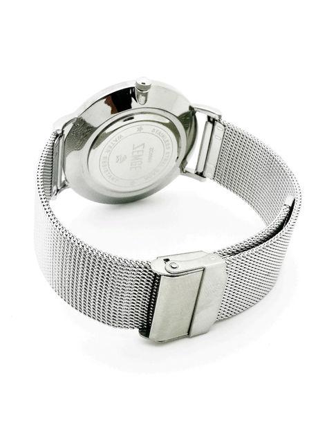 ZEMGE Zegarek unisex srebrny na bransolecie typu MESH Eleganckie pudełko prezentowe w komplecie                              zdj.                              4