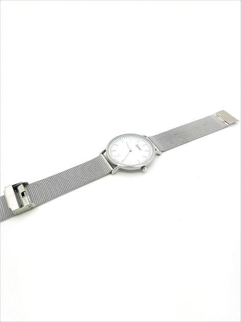 ZEMGE Zegarek unisex srebrny na bransolecie typu MESH Eleganckie pudełko prezentowe w komplecie                              zdj.                              6