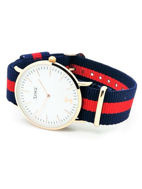 ZEMGE Zegarek unisex złoty na nylonowym pasku Eleganckie pudełko prezentowe w komplecie                              zdj.                              2