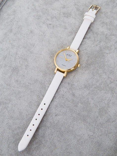 Zegarek damski glitter biały                                  zdj.                                  2