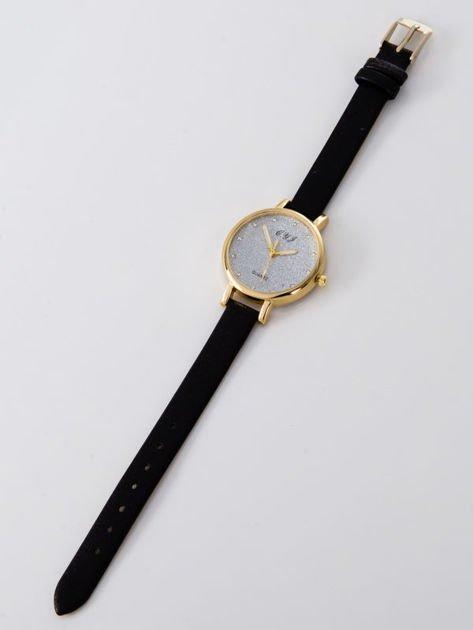 Zegarek damski glitter czarny                              zdj.                              3