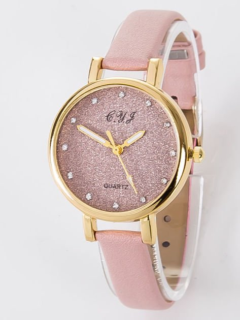 Zegarek damski glitter jasnoróżowy                              zdj.                              1
