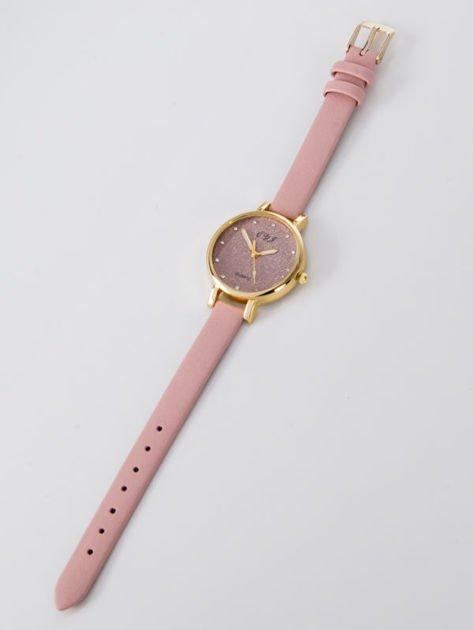 Zegarek damski glitter jasnoróżowy                              zdj.                              3