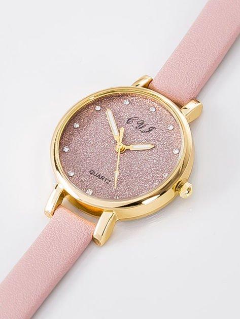 Zegarek damski glitter jasnoróżowy                              zdj.                              2