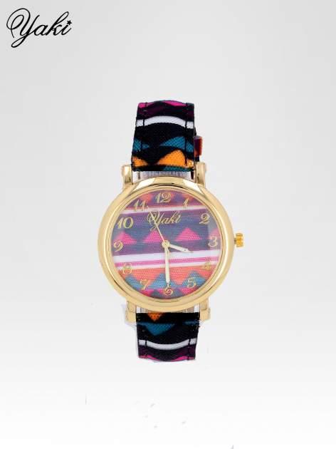 Zegarek damski na pasku z motywem azteckim