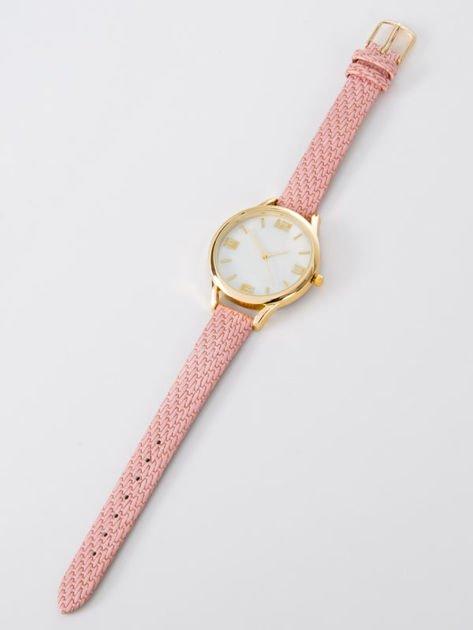 Zegarek damski różowo złoty z perłową białą tarczą                              zdj.                              3