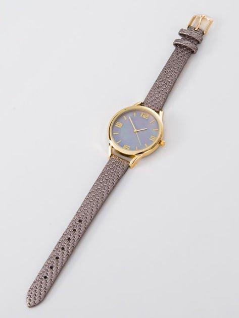 Zegarek damski szaro-złoty z perłową tarczą                              zdj.                              3
