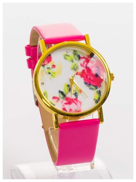 Zegarek damski z kwiatami na tarczy i cyrkoniami                                  zdj.                                  3