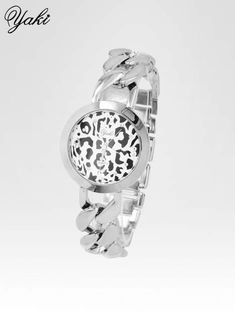 Zegarek damski z motywem leopard print na bransolecie ze srebra                                  zdj.                                  2