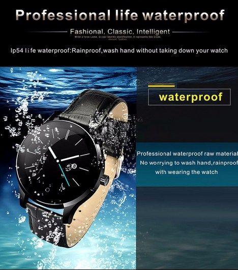 Zegarek smartwatch K88H brązowy Pulsometr Wodoodporny Siri                              zdj.                              9