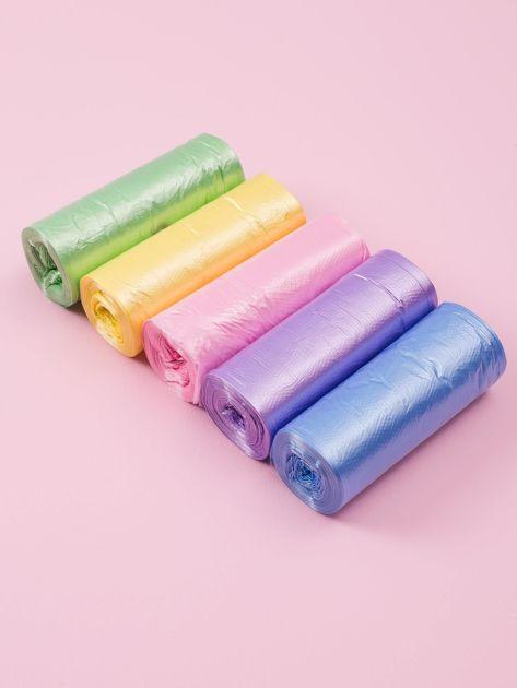 Zestaw kolorowych worków na śmieci                              zdj.                              1