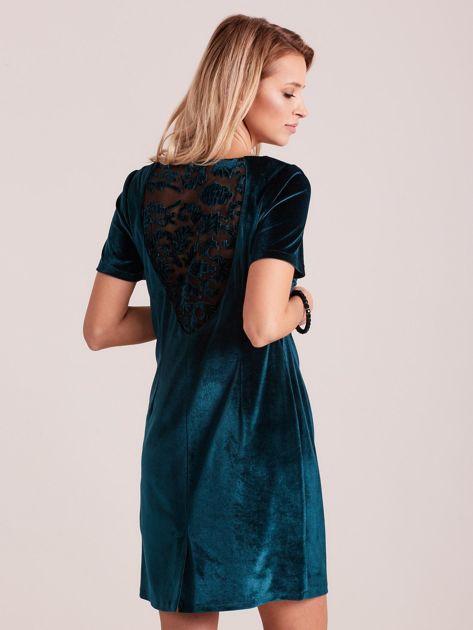 Zielona aksamitna sukienka PLUS SIZE                              zdj.                              2