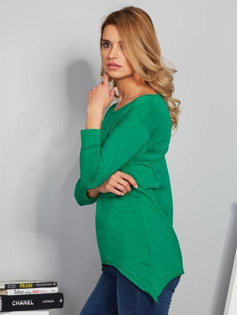 Zielona asymetryczna bluzka z babeczką                              zdj.                              5