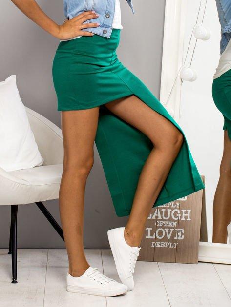 Zielona asymetryczna spódnica                              zdj.                              5