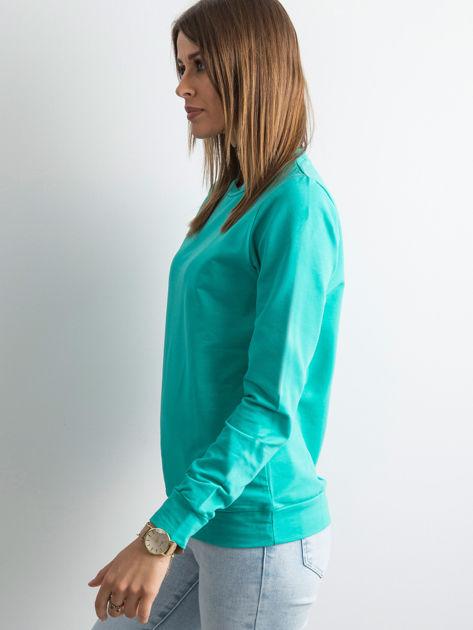 Zielona bluza damska basic                              zdj.                              3