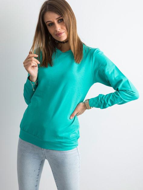 Zielona bluza damska basic                              zdj.                              1