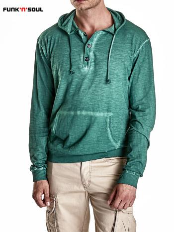 Zielona bluza męska z efektem acid wash Funk n Soul                                  zdj.                                  6