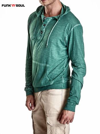 Zielona bluza męska z efektem acid wash Funk n Soul                                  zdj.                                  4
