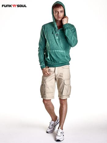Zielona bluza męska z efektem acid wash Funk n Soul                                  zdj.                                  7