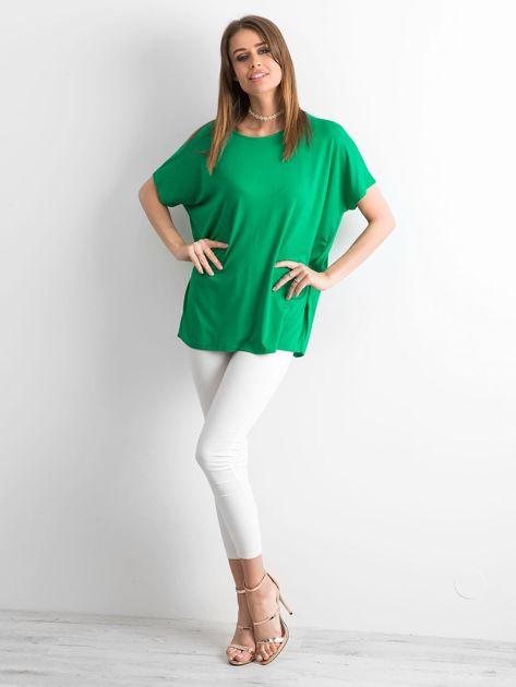 Zielona bluzka Oversize                              zdj.                              4
