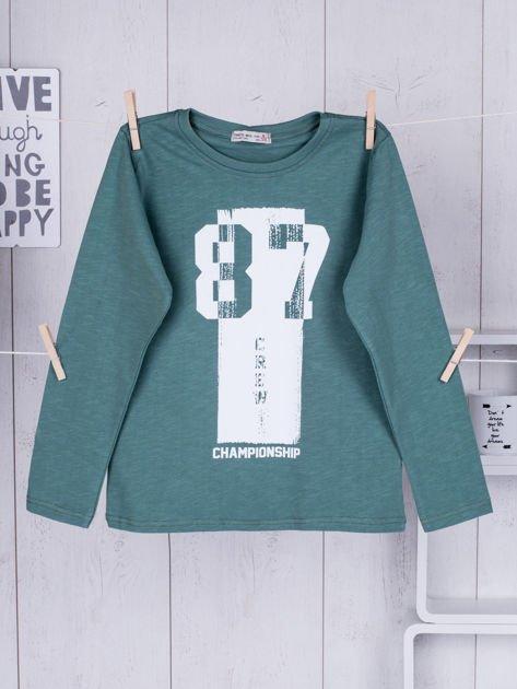 Zielona bluzka dziecięca urban print                              zdj.                              1