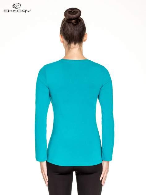 Zielona bluzka sportowa basic PLUS SIZE                                  zdj.                                  4