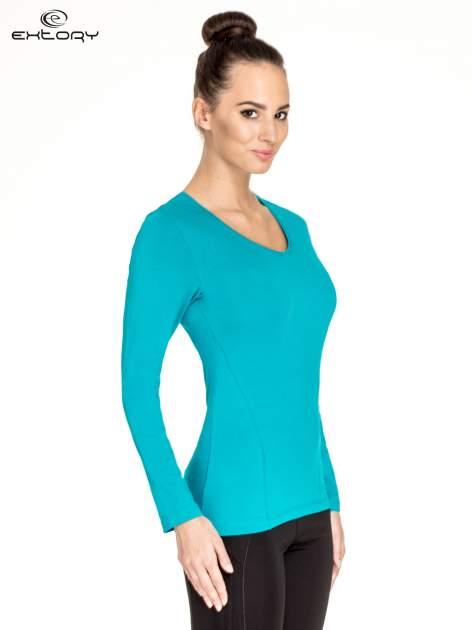 Zielona bluzka sportowa basic PLUS SIZE                                  zdj.                                  3