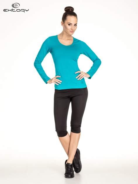 Zielona bluzka sportowa basic PLUS SIZE                                  zdj.                                  2