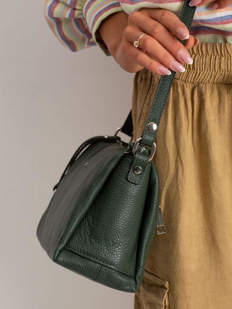 Zielona damska torebka skórzana                              zdj.                              3