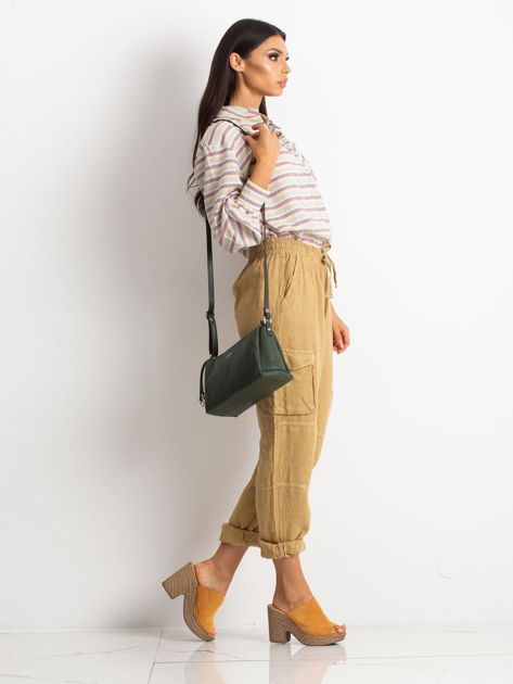 Zielona damska torebka skórzana                              zdj.                              4