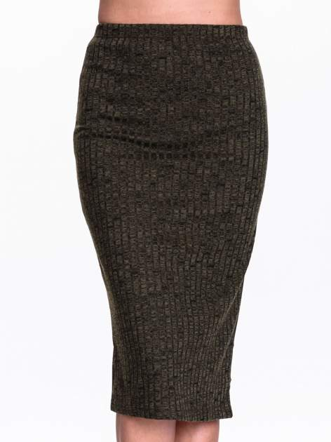Zielona dzianinowa spódnica za kolono                                  zdj.                                  5