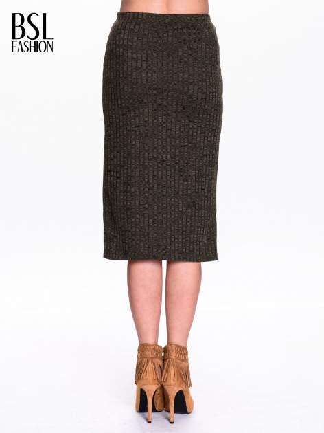 Zielona dzianinowa spódnica za kolono                                  zdj.                                  4
