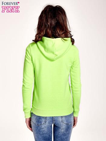 Zielona gładka bluza z kapturem                                  zdj.                                  2