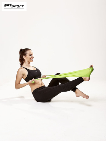 Zielona guma do ćwiczeń poziom średni                                  zdj.                                  8