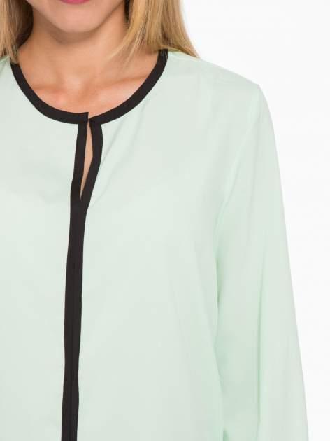 Zielona koszula z kontrastową listwą                                  zdj.                                  6