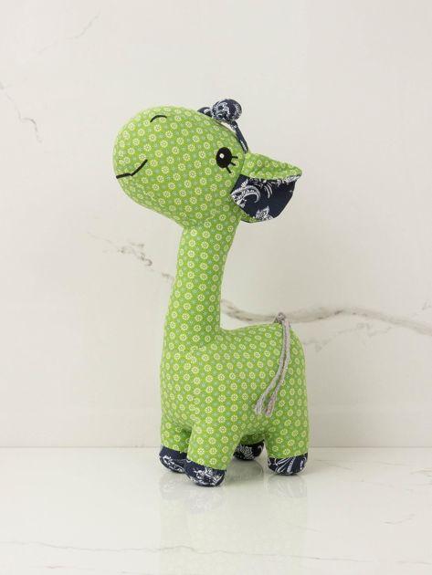 Zielona przytulanka Żyrafka