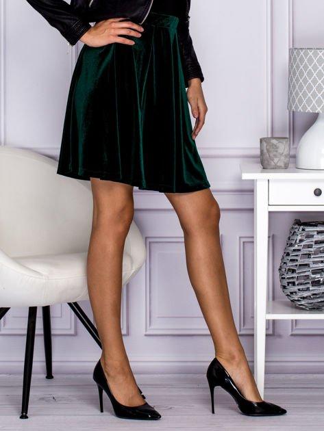 Zielona spódnica z weluru                                  zdj.                                  5