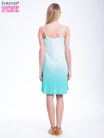 Zielona sukienka na ramiączka z efektem ombre                                  zdj.                                  6