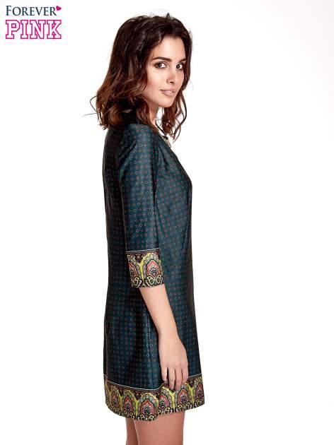 Zielona sukienka w indyjskim stylu                                   zdj.                                  3