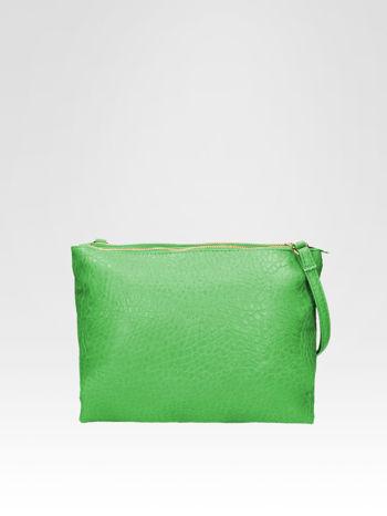 Zielona torebka dwukomorowa z paskiem                                  zdj.                                  1