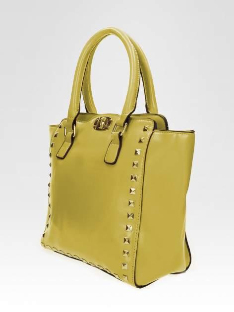 Zielona torebka na ramię z dżetami                                  zdj.                                  7