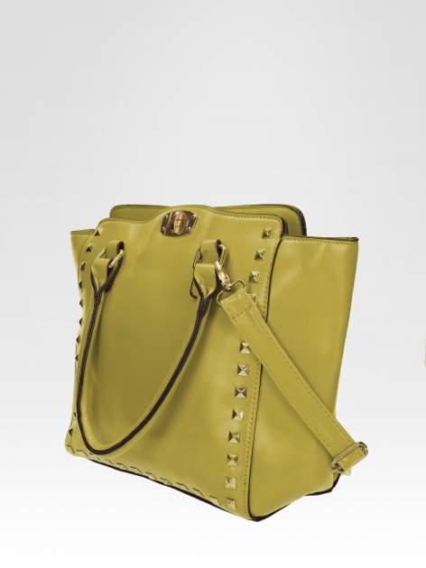 Zielona torebka na ramię z dżetami                                  zdj.                                  2