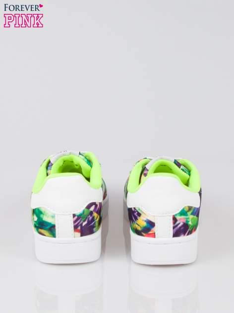 Zielone adidasy z motywem kwiatowym                                  zdj.                                  3