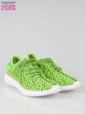 Zielone buty sportowe textile Blossom z uchwytem z tyłu                                  zdj.                                  2