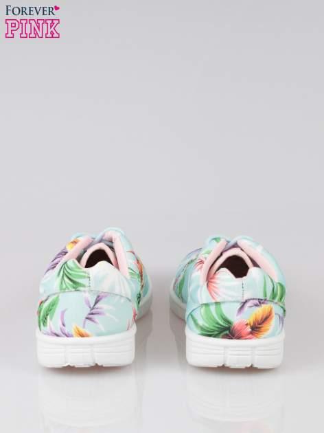 Zielone buty sportowe textile Tropicana w exotic print na podeszwie flex                                  zdj.                                  3